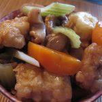 Peste chinezesc cu morcovi, telina si ciuperci