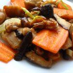 Pui cu ciuperci shiitake