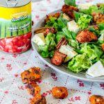 Salata de vara cu crutoane de rosii