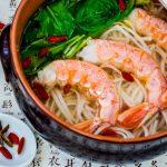 Supa chinezeasca de creveti cu taitei