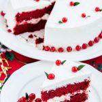 Tort Red Velvet cu mentă-Tort de Crăciun