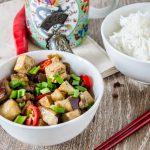 Vinete chinezesti cu toufu in stil Sichuan 四川豆腐茄子
