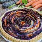 Tartă spirală cu legume