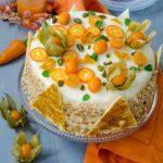 Tort cu mousse de morcovi