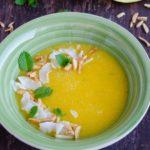Supa rece de piersici si pepene galben