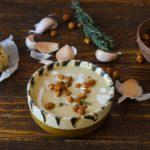 Supa de usturoi cu naut copt